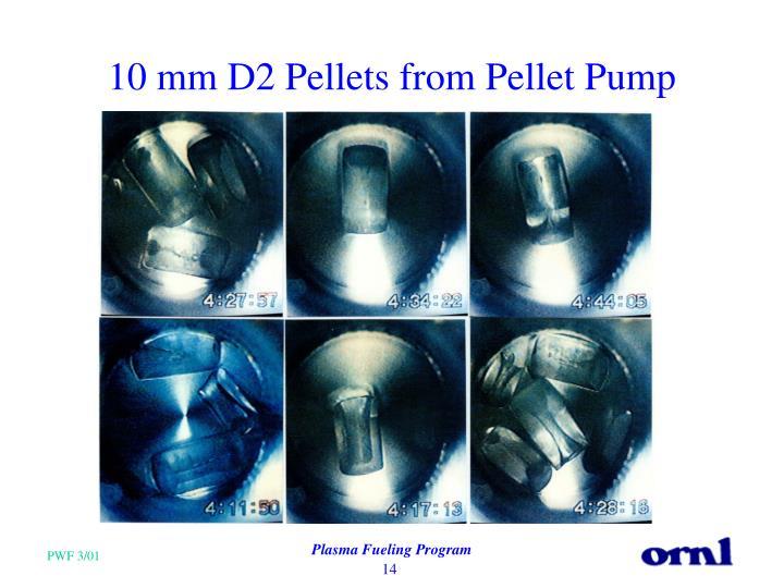 10 mm D2 Pellets from Pellet Pump