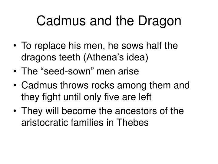 Cadmus and the Dragon