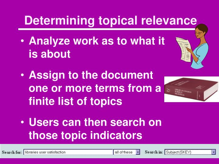 Determining topical relevance