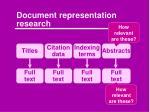 document representation research1