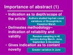 importance of abstract 1