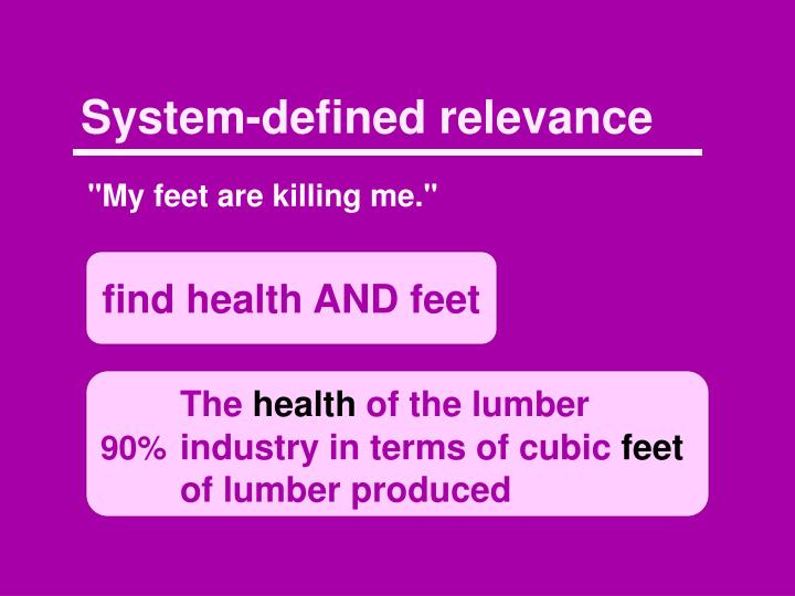System-defined relevance