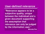 user defined relevance1