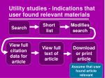 utility studies indications that user found relevant materials2