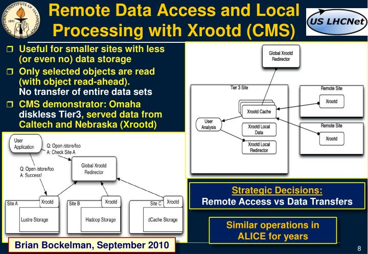 Remote Data Access and Local Processing with