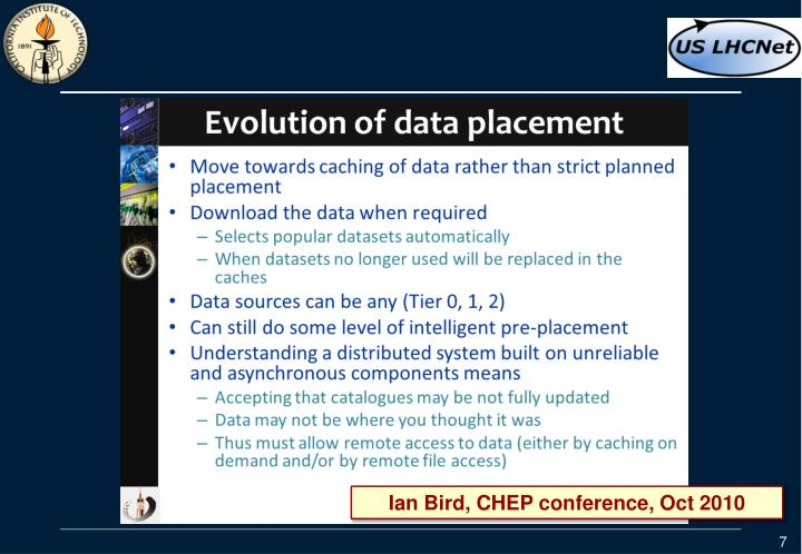 Ian Bird, CHEP conference, Oct 2010