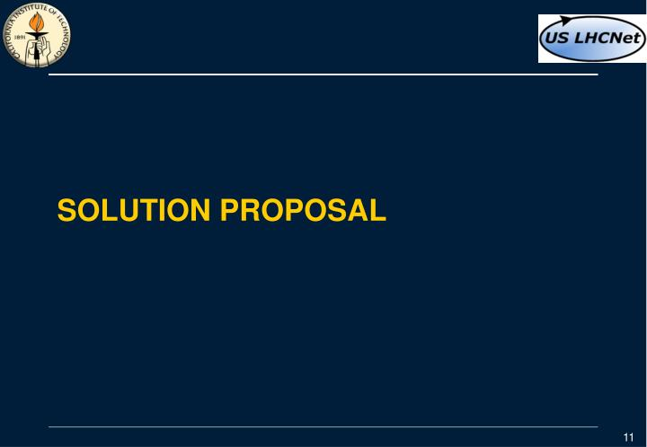 Solution proposal