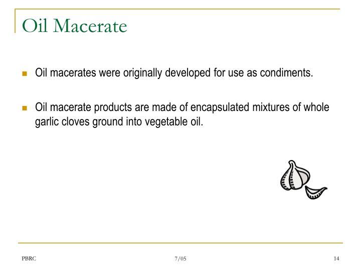 Oil Macerate