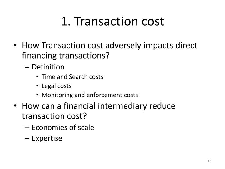 1. Transaction cost