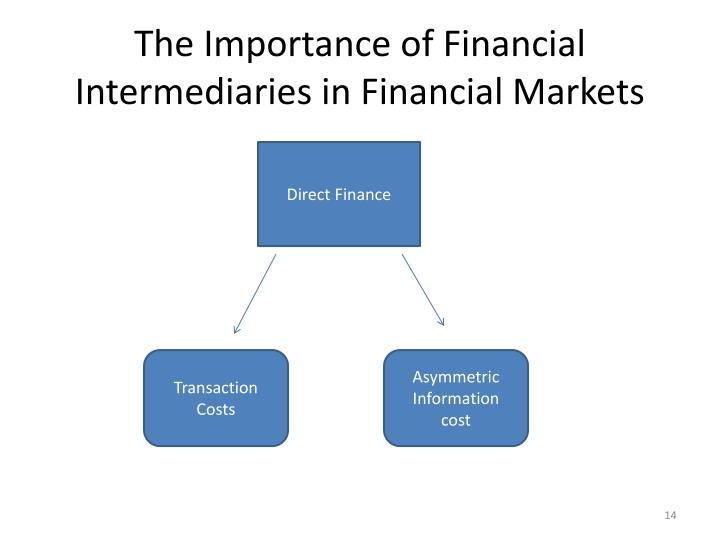 The Importance of Financial Intermediaries in Financial Markets
