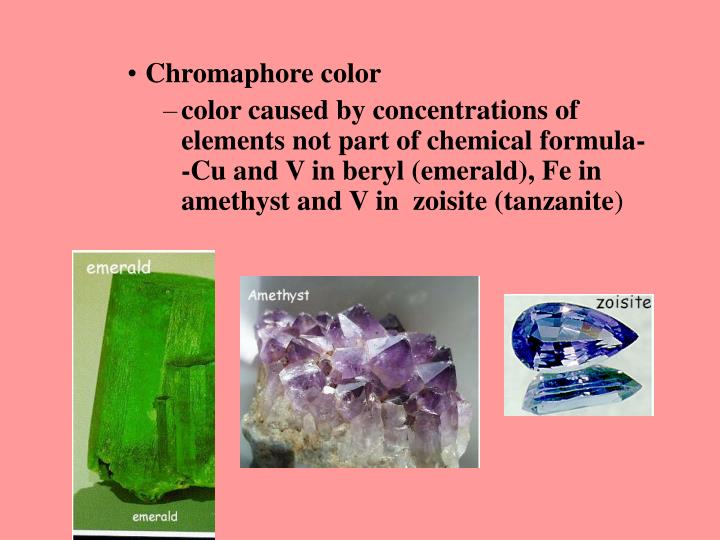 Chromaphore color