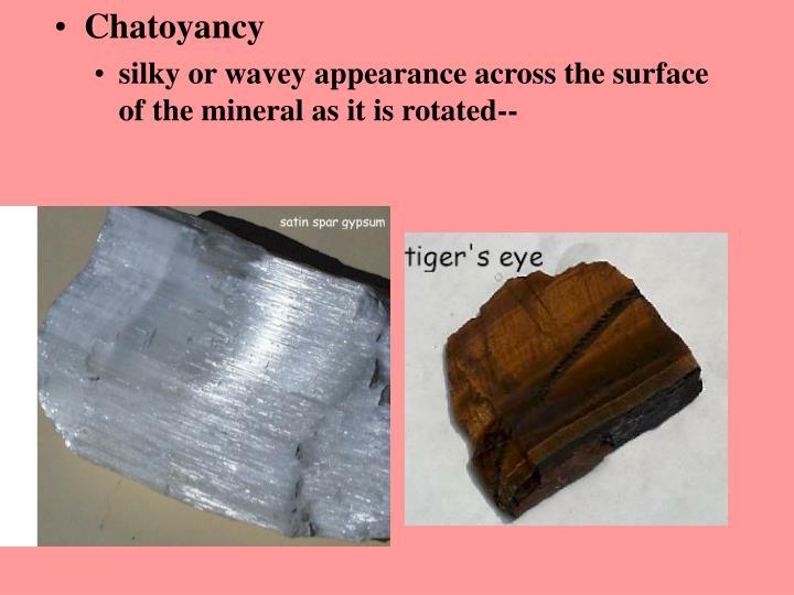 Chatoyancy