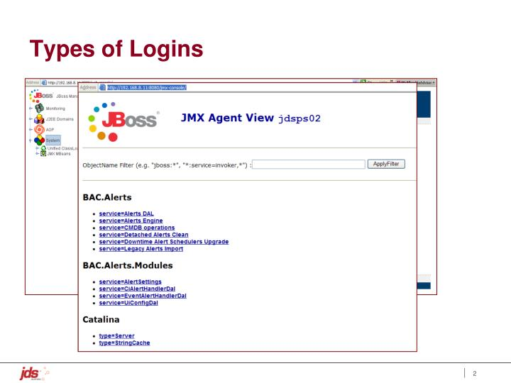 Types of Logins