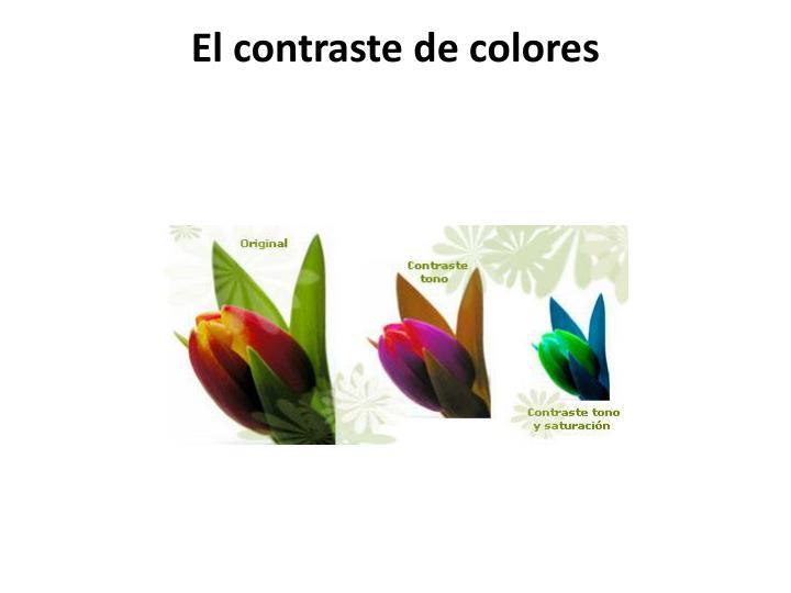 El contraste de colores