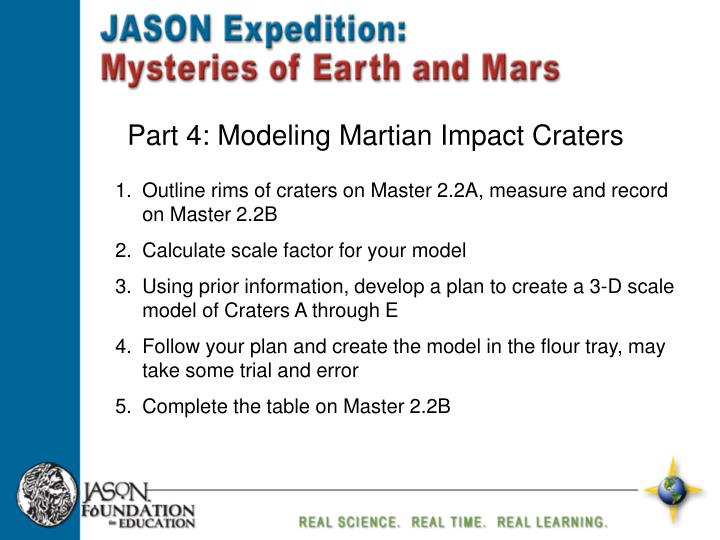 Part 4: Modeling Martian Impact Craters