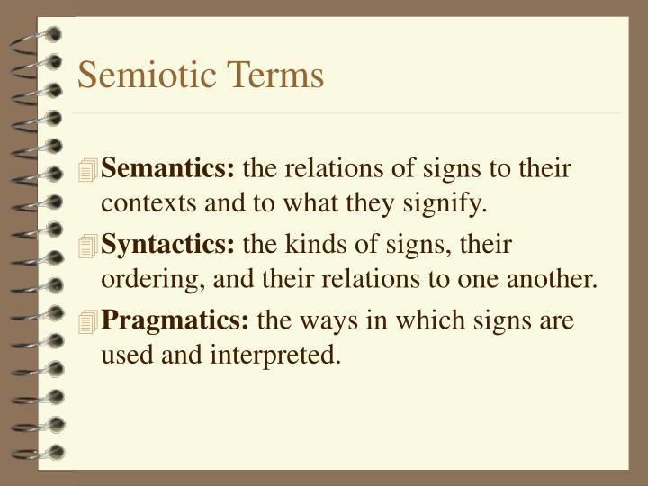 Semiotic Terms