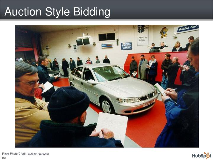 Auction Style Bidding