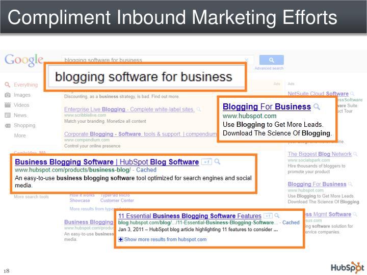 Compliment Inbound Marketing Efforts