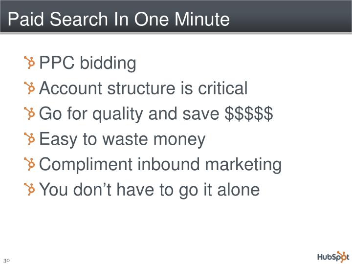 Paid Search In One Minute