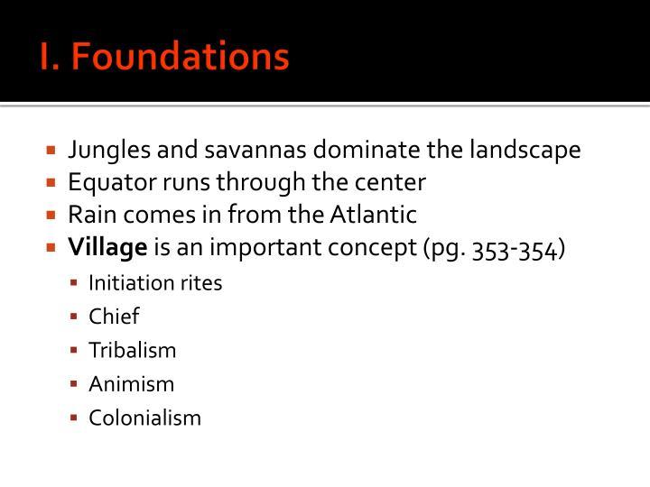 I. Foundations