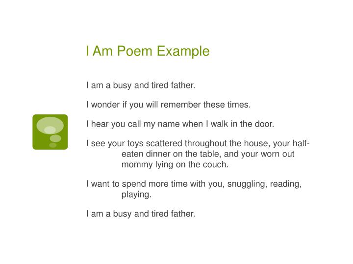 I Am Poem Example
