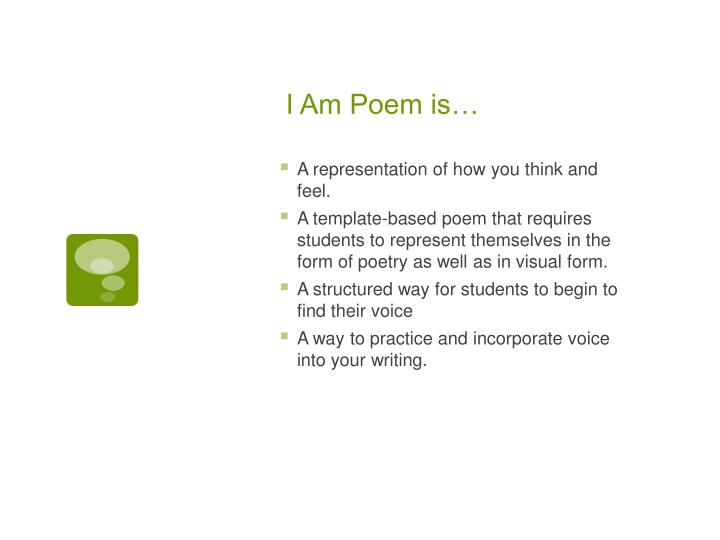 I Am Poem is…