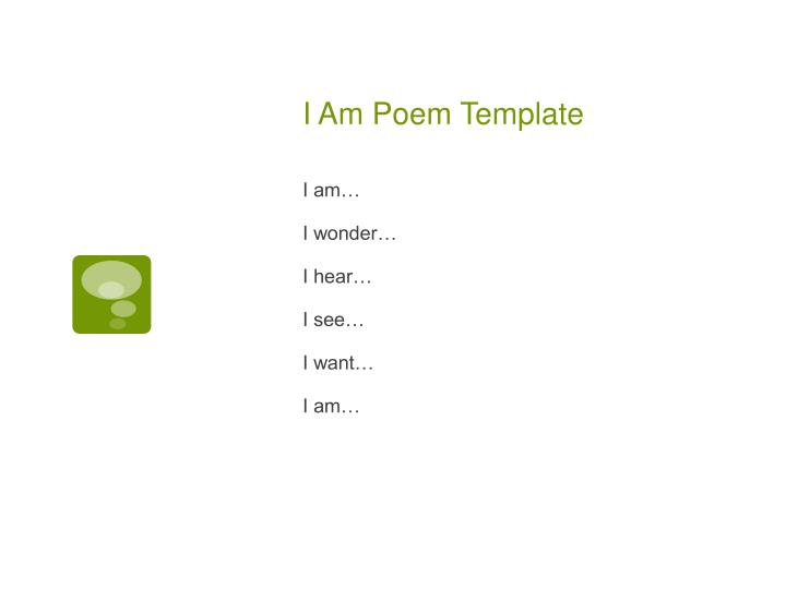 I Am Poem Template