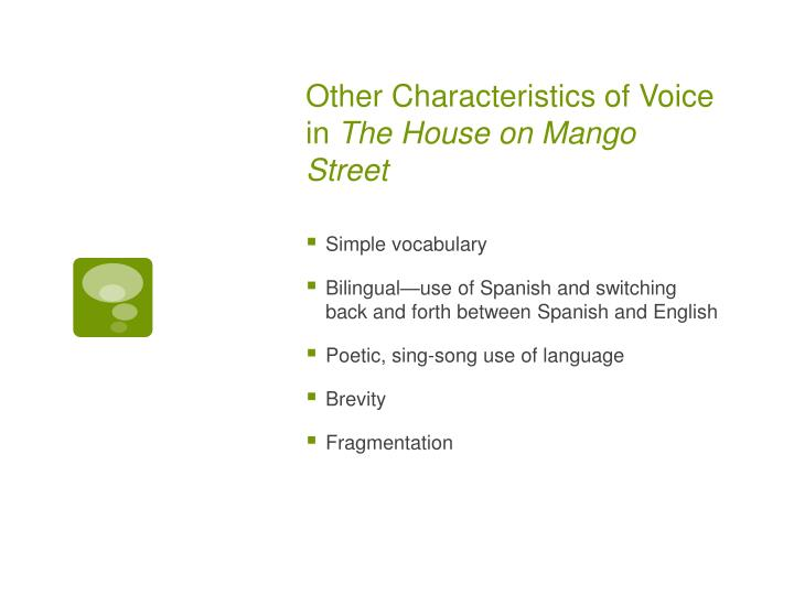 Other Characteristics of Voice in