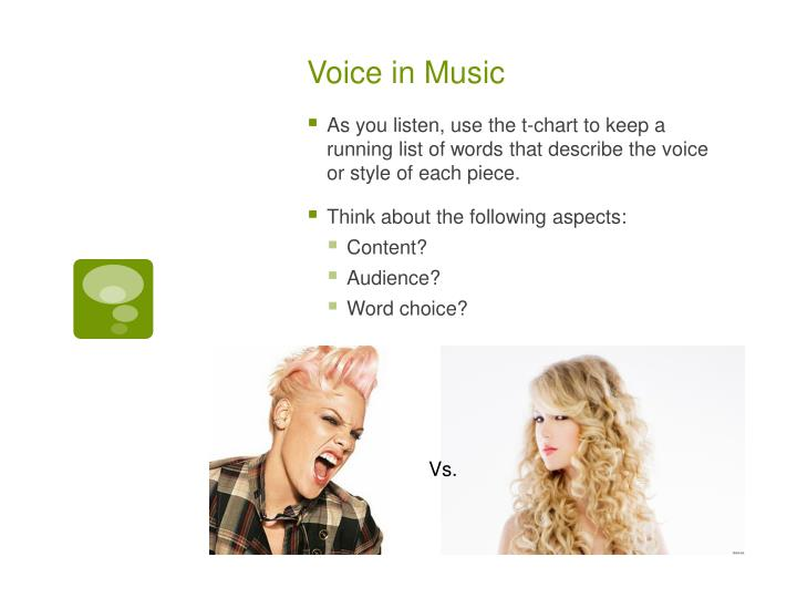 Voice in Music