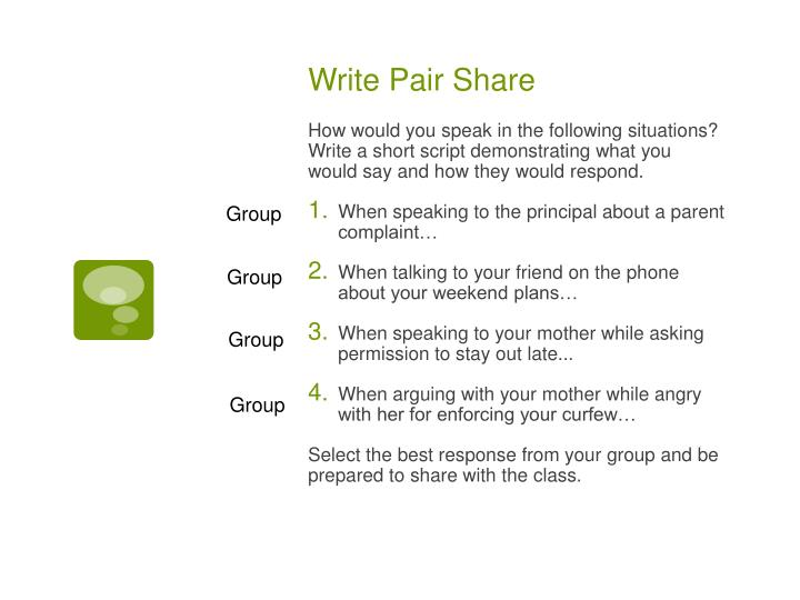 Write Pair Share