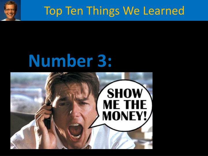 Top Ten Things We Learned