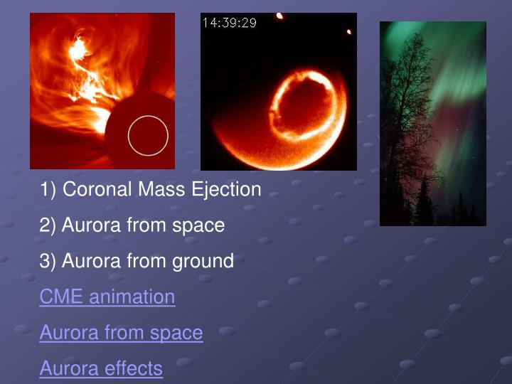 1) Coronal Mass Ejection