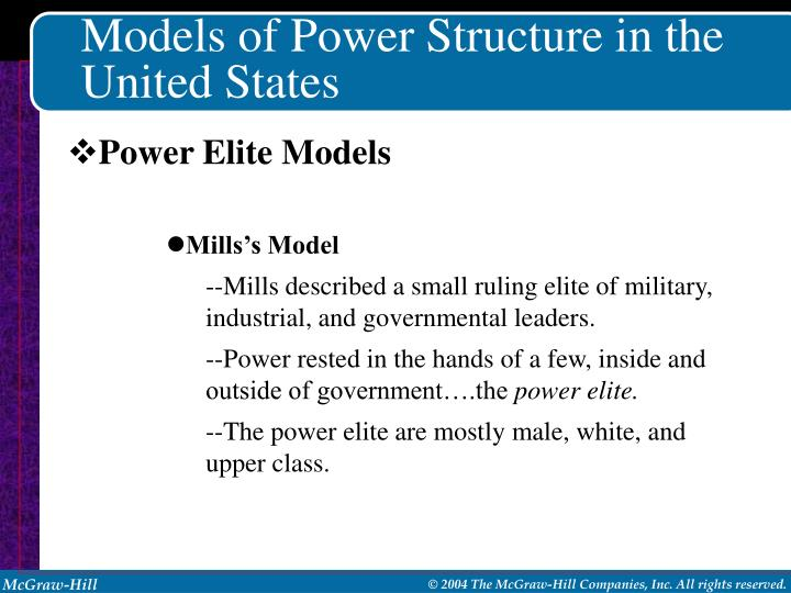 Models of Power Structure in the United States