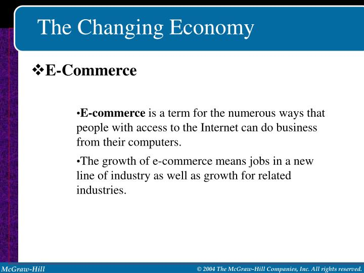 The Changing Economy