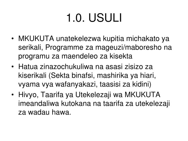 1.0. USULI