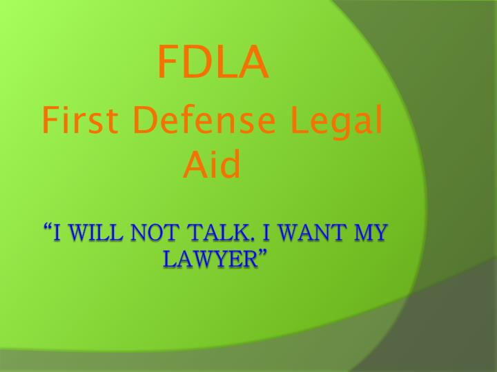 Fdla first defense legal aid