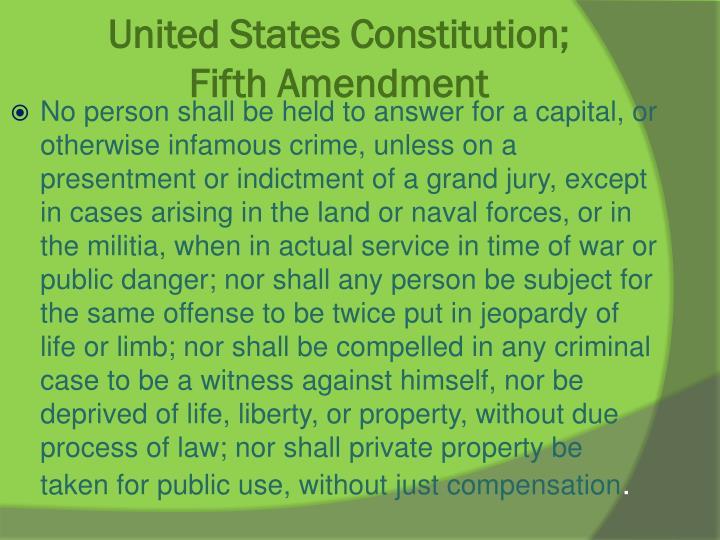 United States Constitution;