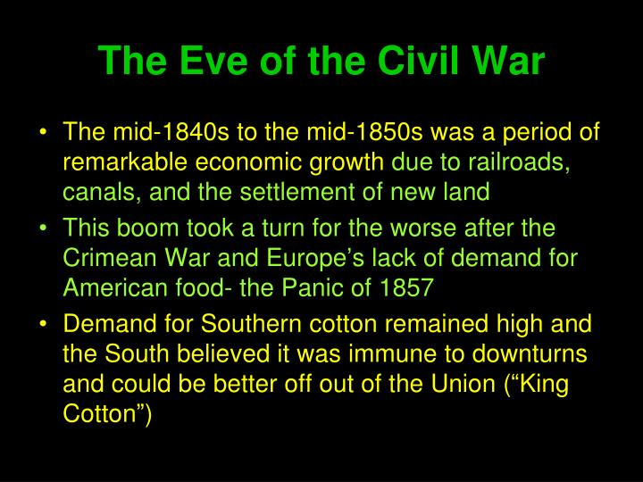 The Eve of the Civil War