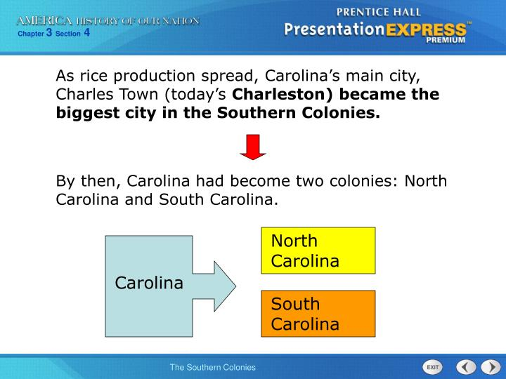As rice production spread, Carolina's main city, Charles Town (today's