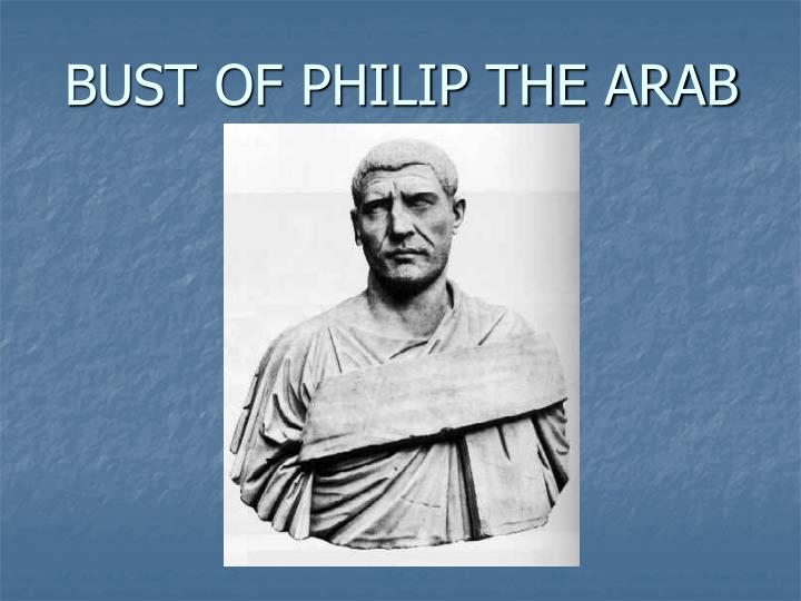 Bust of philip the arab