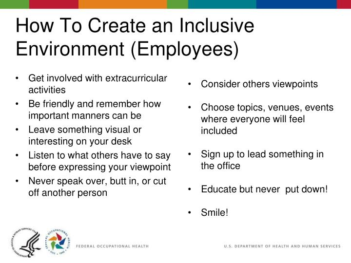 How To Create an Inclusive Environment (Employees)