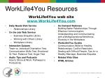 worklife4you resources
