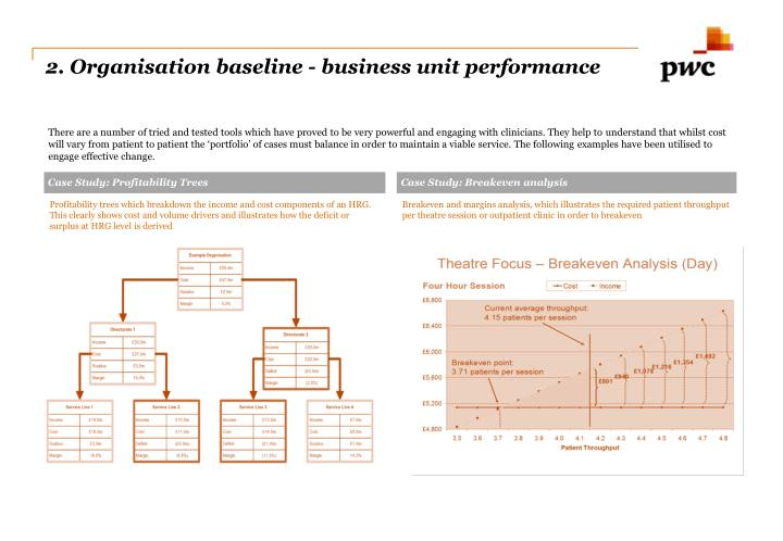 2. Organisation baseline - business unit performance