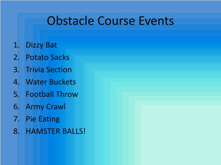 Obstacle Course Events