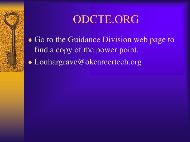 ODCTE.ORG