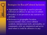 strategies for racial cultural inclusion5