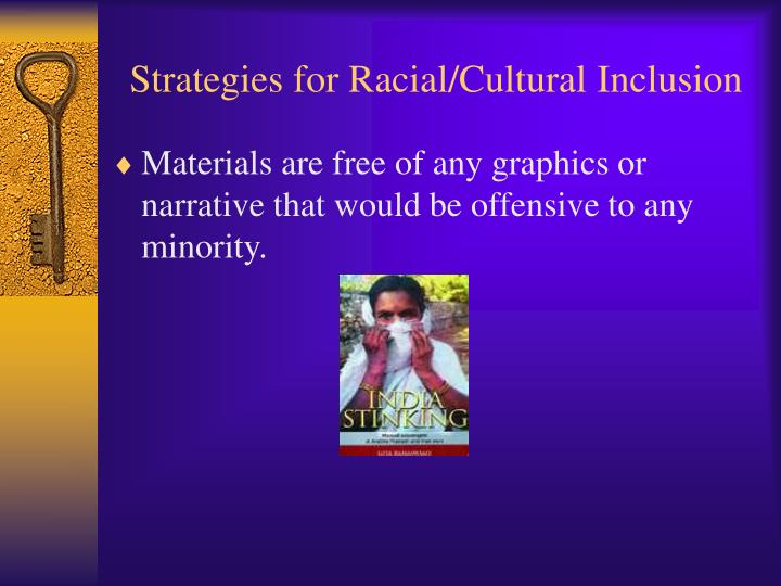 Strategies for Racial/Cultural Inclusion