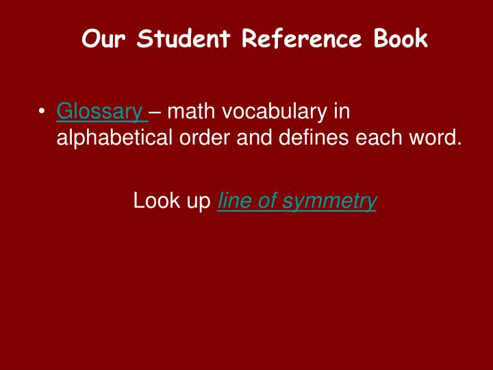 Our Student Reference Book