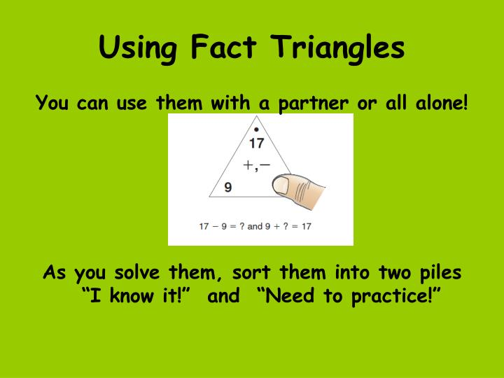 Using Fact Triangles
