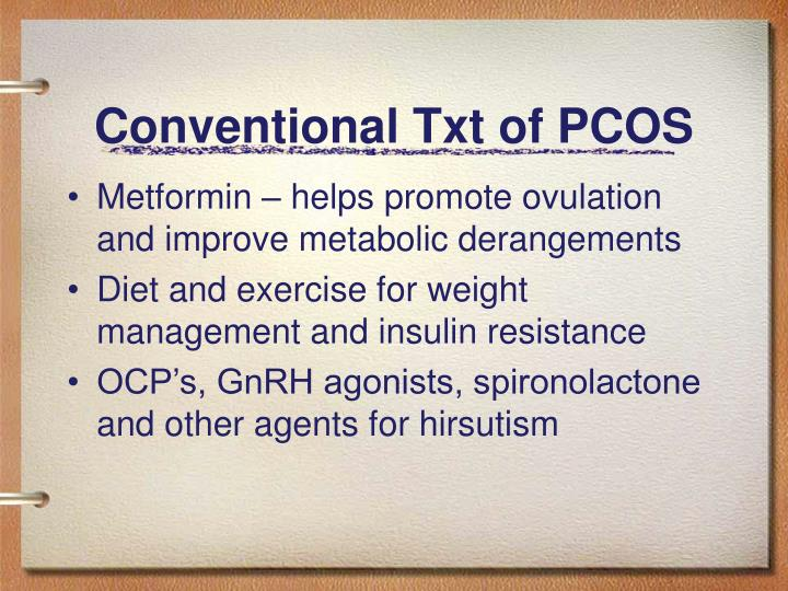 Conventional Txt of PCOS